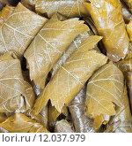 Купить «Caucasus dolma from pickled vine leaves and mince», фото № 12037979, снято 10 июля 2020 г. (c) PantherMedia / Фотобанк Лори