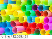 Купить «many ends of multicoloured plastic drinking straws», фото № 12038451, снято 22 февраля 2019 г. (c) PantherMedia / Фотобанк Лори