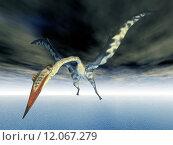 Купить «pterosaur quetzalcoatlus», фото № 12067279, снято 16 октября 2019 г. (c) PantherMedia / Фотобанк Лори