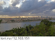 Купить «A panoramic view of Old Havana with the El Capitolio dome and the tower of Jose Marti memorial in the background, Havana, Cuba», фото № 12103151, снято 20 сентября 2019 г. (c) PantherMedia / Фотобанк Лори