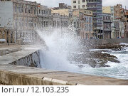 Купить «The Malecon, officially Avenida de Maceo, the roadway ans seawall wich streches 8 km along the coast in Havana, Cuba», фото № 12103235, снято 27 мая 2019 г. (c) PantherMedia / Фотобанк Лори