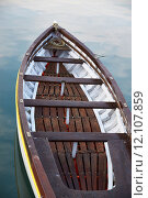 Купить «Wooden boat vintage type on offshore berth», фото № 12107859, снято 22 мая 2018 г. (c) PantherMedia / Фотобанк Лори