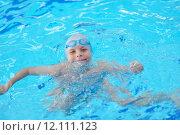 Купить «child portrait on swimming pool», фото № 12111123, снято 19 сентября 2019 г. (c) PantherMedia / Фотобанк Лори