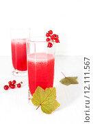 Купить «Свежевыжатый сок красной смородины», фото № 12111567, снято 22 августа 2015 г. (c) Наталья Осипова / Фотобанк Лори
