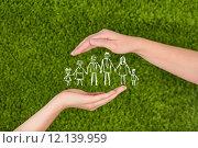 Купить «Family life insurance, protecting family, family concepts. », фото № 12139959, снято 26 апреля 2018 г. (c) PantherMedia / Фотобанк Лори