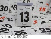 Купить «13 calendar superstition calender friday», фото № 12150287, снято 29 мая 2020 г. (c) PantherMedia / Фотобанк Лори