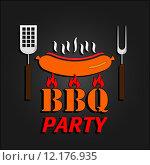 Купить «BBQ design card. Vector illustration. EPS 10», иллюстрация № 12176935 (c) PantherMedia / Фотобанк Лори