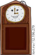 Купить «Grandfather Clock with Blank Numbers», иллюстрация № 12196279 (c) PantherMedia / Фотобанк Лори