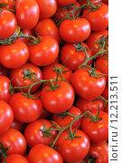 Купить «tomato, food, fresh, freshness, greengrocer, fruit, market, organic, red, retail, stall, vegetable, eat,», фото № 12213511, снято 23 июля 2019 г. (c) PantherMedia / Фотобанк Лори