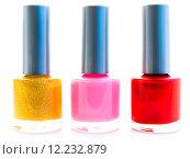 Купить «nail polish», фото № 12232879, снято 20 октября 2018 г. (c) PantherMedia / Фотобанк Лори