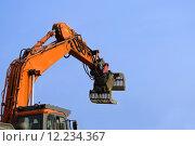 Купить «construction site dredger baggern baggerschaufel», фото № 12234367, снято 20 марта 2019 г. (c) PantherMedia / Фотобанк Лори