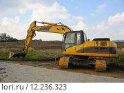 Купить «construction site dredger baggerarm schaufelbagger», фото № 12236323, снято 24 марта 2019 г. (c) PantherMedia / Фотобанк Лори
