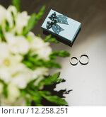 Купить «Two wedding rings in infinity sign. Love concept.», фото № 12258251, снято 22 апреля 2018 г. (c) PantherMedia / Фотобанк Лори
