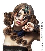 Fantasy. Fancy Woman with Creative Makeup and Tears. Стоковое фото, фотограф Iryna Hramavataya / PantherMedia / Фотобанк Лори