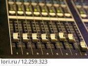 Купить «Mixing Console», фото № 12259323, снято 16 июля 2018 г. (c) PantherMedia / Фотобанк Лори