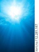 Купить «Real Ray of light from Underwater», фото № 12281187, снято 19 сентября 2018 г. (c) PantherMedia / Фотобанк Лори