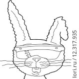 Купить «Outline of Rabbit with Augmented Vision», иллюстрация № 12317935 (c) PantherMedia / Фотобанк Лори