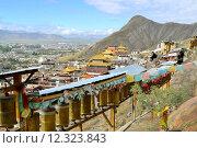 Купить «Prayer wheels around monastery in Shigatse, Tibet», фото № 12323843, снято 22 сентября 2018 г. (c) PantherMedia / Фотобанк Лори