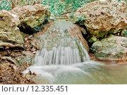 Купить «Close up of little waterfall on the aegean island Samos », фото № 12335451, снято 25 июня 2019 г. (c) PantherMedia / Фотобанк Лори