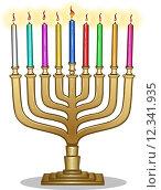 Купить «Hanukkah Lamp Hanukkiah», иллюстрация № 12341935 (c) PantherMedia / Фотобанк Лори