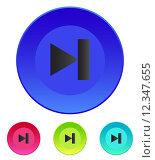 Купить «Next track web icon. Media player.», иллюстрация № 12347655 (c) PantherMedia / Фотобанк Лори