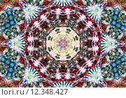 Купить «Ethnic pattern. Abstract kaleidoscope», фото № 12348427, снято 16 декабря 2017 г. (c) PantherMedia / Фотобанк Лори