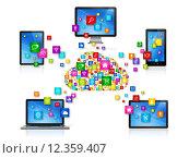 Купить «Cloud Computing Network», иллюстрация № 12359407 (c) PantherMedia / Фотобанк Лори