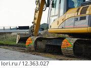 Купить «construction site dredger baggerarm schaufelbagger», фото № 12363027, снято 24 марта 2019 г. (c) PantherMedia / Фотобанк Лори