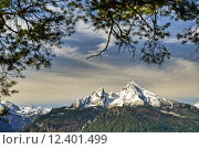 Купить «spring mountains alps bavaria alpenpanorama», фото № 12401499, снято 20 августа 2019 г. (c) PantherMedia / Фотобанк Лори