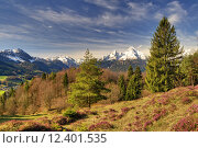 Купить «spring mountains alps bavaria alpenpanorama», фото № 12401535, снято 20 августа 2019 г. (c) PantherMedia / Фотобанк Лори