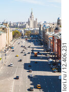 Купить «Lubyanka Square in historical center of Moscow», фото № 12406231, снято 24 сентября 2018 г. (c) PantherMedia / Фотобанк Лори