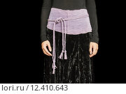 Купить «Black and Purple Dress cropped at the Waist», фото № 12410643, снято 25 марта 2019 г. (c) PantherMedia / Фотобанк Лори