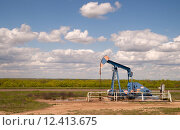 Купить «Texas Oil Pump Jack Fracking Crude Extraction Machine», фото № 12413675, снято 23 января 2019 г. (c) PantherMedia / Фотобанк Лори