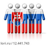 Купить «Flag of Slovakia on stick figure», иллюстрация № 12441743 (c) PantherMedia / Фотобанк Лори