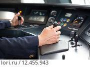 Купить «Train driver», фото № 12455943, снято 15 августа 2018 г. (c) PantherMedia / Фотобанк Лори
