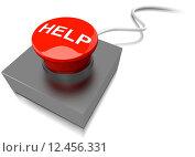 Купить «Red help button buzzer», фото № 12456331, снято 10 декабря 2018 г. (c) PantherMedia / Фотобанк Лори