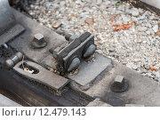 Купить «Bolts on a railway in a station in a prak», фото № 12479143, снято 20 января 2019 г. (c) PantherMedia / Фотобанк Лори