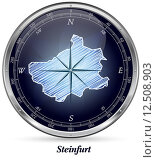 Map of Steinfurt. Стоковое фото, фотограф Jacqueline Böttcher / PantherMedia / Фотобанк Лори