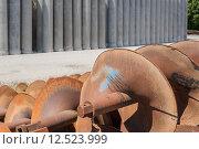 Купить «Augers for laying pipes in the ground», фото № 12523999, снято 20 февраля 2020 г. (c) PantherMedia / Фотобанк Лори