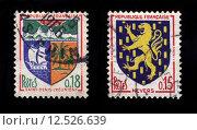 Купить «French Postage Stamps», фото № 12526639, снято 19 июля 2019 г. (c) PantherMedia / Фотобанк Лори
