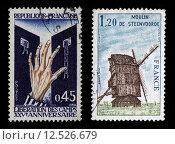 Купить «French Postage Stamps», фото № 12526679, снято 19 июля 2019 г. (c) PantherMedia / Фотобанк Лори