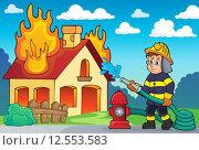 Купить «Firefighter theme image 2», иллюстрация № 12553583 (c) PantherMedia / Фотобанк Лори
