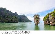 Купить «High angle view Khao Tapu island», фото № 12554463, снято 20 июня 2019 г. (c) PantherMedia / Фотобанк Лори