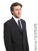 Купить «Young serious business man portrait», фото № 12575075, снято 22 июля 2019 г. (c) PantherMedia / Фотобанк Лори