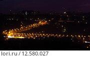 Мост в городе ночью, таймлапс. Стоковое видео, видеограф Алексей Жарков / Фотобанк Лори