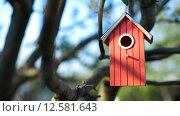 Купить «Скворечник на дереве», фото № 12581643, снято 26 апреля 2015 г. (c) Дмитрий Сидоров / Фотобанк Лори