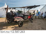 Самодельный макет старинного военного самолета. МАКС-2015. Редакционное фото, фотограф Алексей Бок / Фотобанк Лори