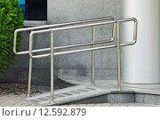 Купить «Пандус для въезда колясок», фото № 12592879, снято 30 августа 2015 г. (c) Сергей Трофименко / Фотобанк Лори