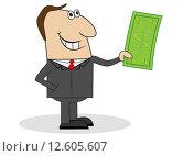 Бизнесмен с деньгами в руках, иллюстрация № 12605607 (c) Галина Онищенко / Фотобанк Лори
