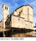 Купить «Church of Santiago el Real in Logrono. Rioja», фото № 12606383, снято 28 июня 2014 г. (c) Яков Филимонов / Фотобанк Лори